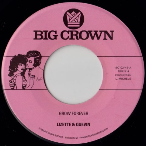 "Lizette & Quevin ""Grow Forever"" b/w ""Now It's Your Turn To Sing"""