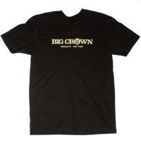 Big Crown Records Logo T-Shirt, gold on black tee.