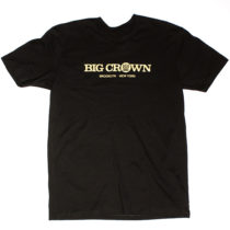 Big Crown Records Logo T-Shirt, gold on black tee.