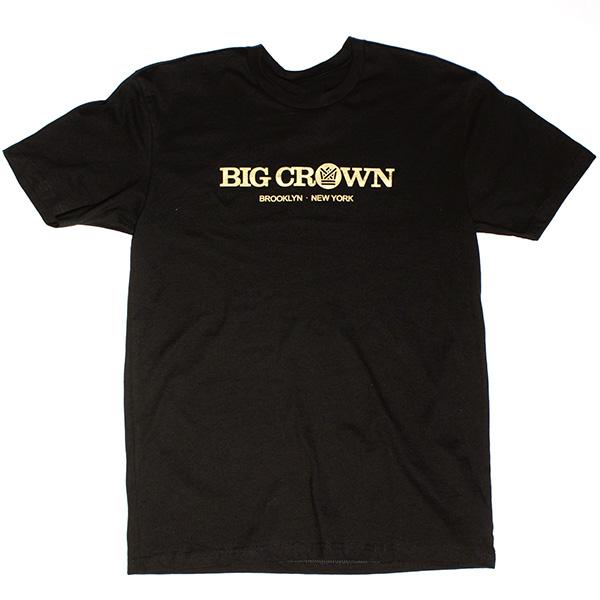 Big Crown Logo Shirt (Black/Gold) – Big Crown Records