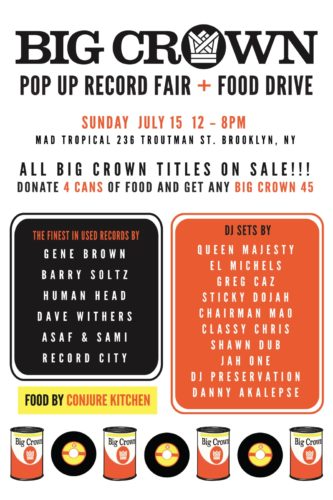 big crown record fair food drive july 15 2018