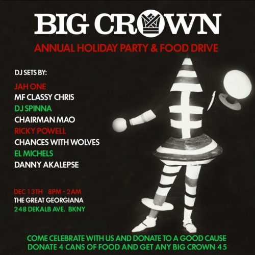 big crowm holiday party & food drive 2018