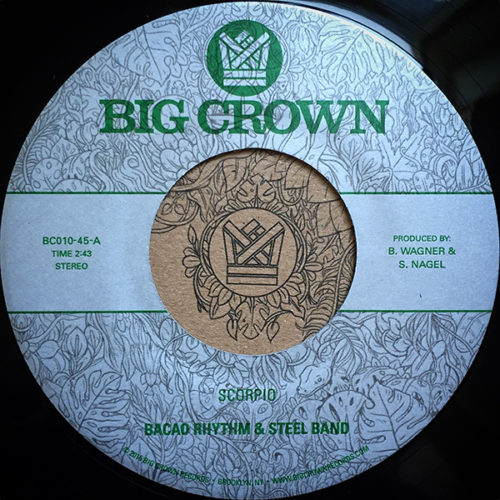 "Bacao Rhythm & Steel Band's new 45 ""Scorpio"" back with ""8th Wonder"" in the Big Crown Records webstore now. Availiable in all formats."