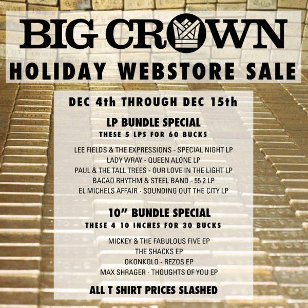 Big Crown Holiday Sale
